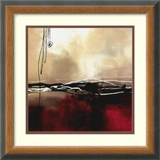 "Symphony in Red and Khaki I by Laurie Maitland, Framed Print Art - 16.77"" x 16.77"""