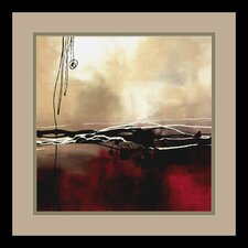 "Symphony in Red and Khaki I by Laurie Maitland, Framed Print Art - 15.41"" x 15.41"""