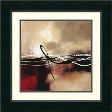 "Symphony in Red and Khaki II by Laurie Maitland, Framed Print Art - 17.49"" x 17.49"""