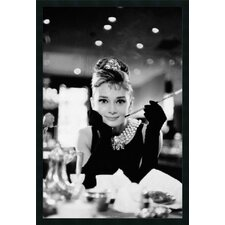 "<strong>Amanti Art</strong> Audrey Hepburn - Breakfast at Tiffany's Framed Print Art - 37.66"" x 25.66"""