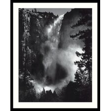 "Bridal Veil Falls by Ansel Adams, Framed Print Art - 31.04"" x 25.04"""