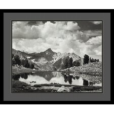 "<strong>Amanti Art</strong> Mount Clarence King, 1925 by Ansel Adams, Black Matted Framed Print Art - 21.04"" x 25.04"""