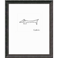 "Le Chien (The Dog) by Pablo Picasso, Framed Print Art - 21.56"" x 17.93"""
