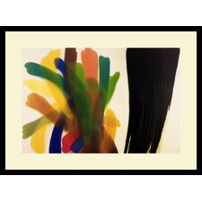 "Winged Hue II by Morris Louis, Framed Print Art - 21.66"" x 29.04"""