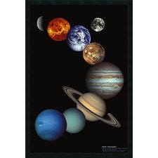 "<strong>Amanti Art</strong> NASA Solar System Framed Print Art - 37.66"" x 25.66"""