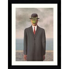 "<strong>Amanti Art</strong> Le Fils de l'Homme (Son of Man), 1964 by Rene Magritte, Framed Print Art - 30.62"" x 24.62"""
