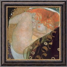 "<strong>Amanti Art</strong> Danae by Gustav Klimt, Framed Canvas Art - 19.97"" x 19.97"""