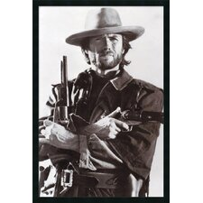 "Clint Eastwood Framed Print Art - 37.66"" x 25.66"""