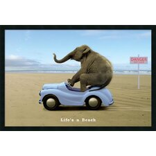 "Life's a Beach Framed Print Art - 25.66"" x 37.66"""