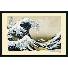 "<strong>Amanti Art</strong> The Great Wave off the Coast of Kanagawa by Katsushika Hokusai, Framed Print Art - 25.66"" x 37.66"""