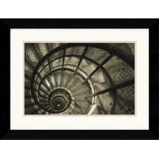 <strong>Amanti Art</strong> Spiral Staircase in Arc De Triomphe Framed Art Print by Christian Peacock