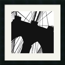 <strong>Amanti Art</strong> Brooklyn Bridge Silhouette (Detail) Framed Art Print by Erin Clark
