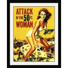 Attack of The 50' Woman Framed Art Print