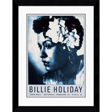 "<strong>Amanti Art</strong> Billie Holiday: Town Hall NYC, 1946 Framed Art Print Framed Decorative Art Print - 30.62"" x 23.99"""