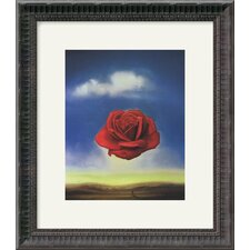 "The Rose by Salvador Dali Framed Fine Art Print - 16.18"" x 14.18"""