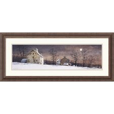 "<strong>Amanti Art</strong> Mill Moon by Ray Hendershot Framed Fine Art Print - 13.18"" x 30.3"""