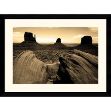 "<strong>Amanti Art</strong> Monument Valley by Andy Magee Framed Fine Art Print - 28.62"" x 38.62"""