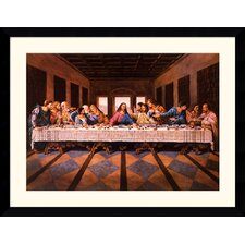 "<strong>Amanti Art</strong> Last Supper by William Ternay Framed Fine Art Print - 31.62"" x 40.99"""