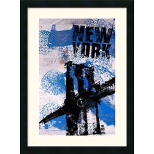 "<strong>Amanti Art</strong> NYC (Blue) by Bobby Hill Framed Fine Art Print - 25"" x 18.50"""