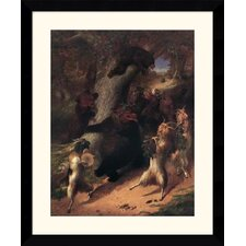"<strong>Amanti Art</strong> The March of Silenus by William Beard Framed Fine Art Print - 35.62"" x 29.49"""