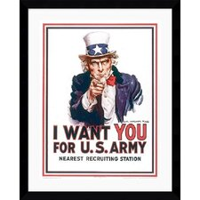 "<strong>Amanti Art</strong> I Want You by James Montgomery Flagg Framed Fine Art Print - 38.62"" x 32.62"""