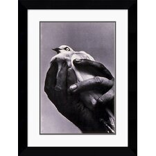 "<strong>Amanti Art</strong> Bird in Hand, 1957 by Harold Feinstein Framed Fine Art Print - 27.12"" x 20.62"""