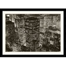 <strong>Amanti Art</strong> Mary Poppins Over Midtown, NY 2006 Framed Art Print by Michael Kenna