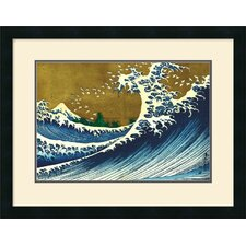 <strong>Amanti Art</strong> Big Wave (From 100 Views of Mt. Fuji) Framed Art Print by Katsushika Hokusai