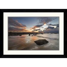 "<strong>Amanti Art</strong> Sailcoats Sunset by Robert Strachan Framed Fine Art Print - 23.62"" x 31.62"""