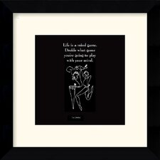 "<strong>Amanti Art</strong> Life is a Mind Game by Sir Shadow Framed Fine Art Print - 10"" x 10"""