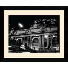 "<strong>Amanti Art</strong> Grand Central Station at Night by Phil Maier Framed Fine Art Print - 24.62"" x 30.62"""
