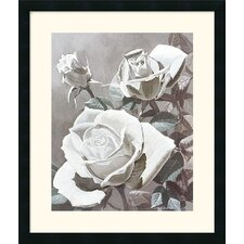 "<strong>Amanti Art</strong> White Roses by Marianne Hornbuckle Framed Fine Art Print - 27"" x 23"""