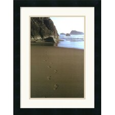 "<strong>Amanti Art</strong> Ocean Footprints by Ruth Burke Framed Art Print - 21"" x 16"""