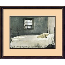 "<strong>Amanti Art</strong> Master Bedroom by Andrew Wyeth, Framed Print Art - 17.56"" x 21.68"""