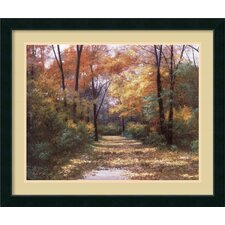 'Autumn Road' by Diane Romanello Framed Painting Print