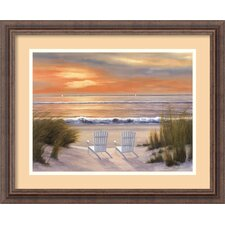'Paradise Sunset' by Diane Romanello Framed Painting Print