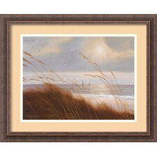 'Sailboat Breezeway' by Diane Romanello Framed Painting Print