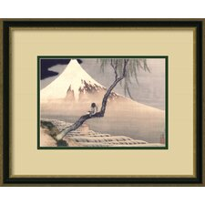 <strong>Amanti Art</strong> Boy on Mount Fuji Framed Print by Katsushika Hokusai