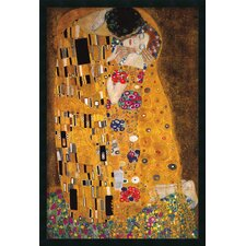 'The Kiss (Le Baiser/Il Baccio), 1907' by Gustav Klimt Framed Painting Print
