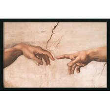 The Creation of Adam (Detail I) Framed Print by Michelangelo Buonarroti