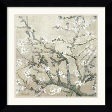 <strong>Amanti Art</strong> Almond Branches in Bloom, San Remy, Detail (II) Framed Print by Vincent Van Gogh