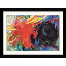 <strong>Amanti Art</strong> Kampfende Formen 1914 (Fighting Forms) Framed Print by Franz Marc
