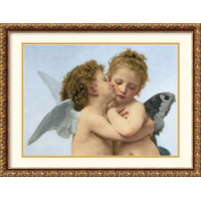<strong>Amanti Art</strong> The First Kiss (Detail) Framed Print by William Adolphe Bouguereau