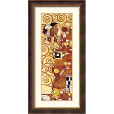 <strong>Amanti Art</strong> The Fulfillment (Die Erfullung) Detail Framed Print by Gustav Klimt