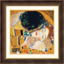 The Kiss (Der Kuss) Detail 1 Framed Print by Gustav Klimt