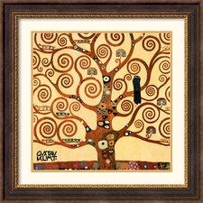 'Tree of Life (Detail 1)' by Gustav Klimt Framed Graphic Art