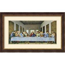 'The Last Supper 1497' by Leonardo Da Vinci Framed Painting Print