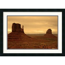 <strong>Amanti Art</strong> Monument Valley Mittens Framed Print by Andy Magee