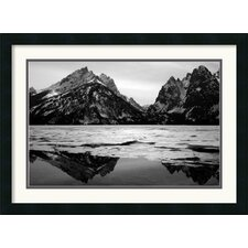 Teton Winter Framed Print by Andy Magee