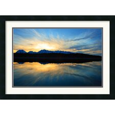<strong>Amanti Art</strong> Sunset on Jackson Lake Framed Print by Andy Magee
